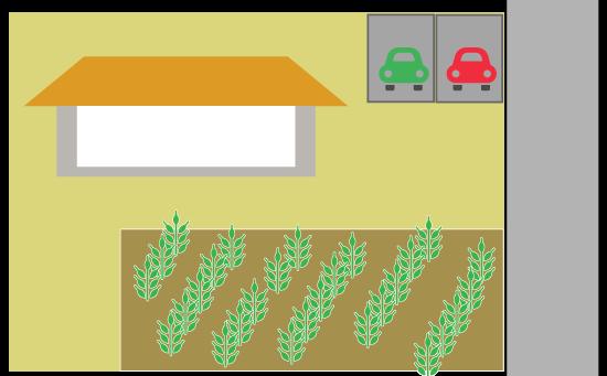 家庭菜園として利用されている宅地